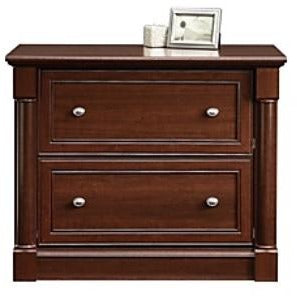 "Sauder Palladia Collection 2-Drawer Lateral File, 29 3/5""H x 36 13/16""W x 22""D, Select Cherry"