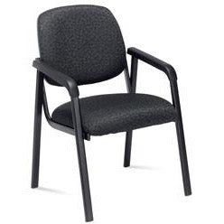 "Realspace PRO Outlet 2000 Series Fabric Guest Chair, 32""H x 23""W x 24 1/2""D, Black Frame, Black Fabric"