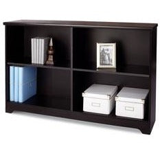 Realspace Outlet Magellan Collection 2-Shelf Sofa Bookcase, Espresso