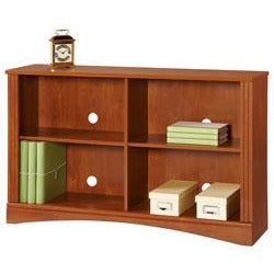 "Realspace Outlet Dawson 2-Shelf Sofa Bookcase, 29""H x 47 1/4""W x 11 3/5""D, Brushed Maple"