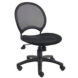 "Boss Office Products Mesh Task Chair, 38 1/2""H x 25""W x 25""D, Black"