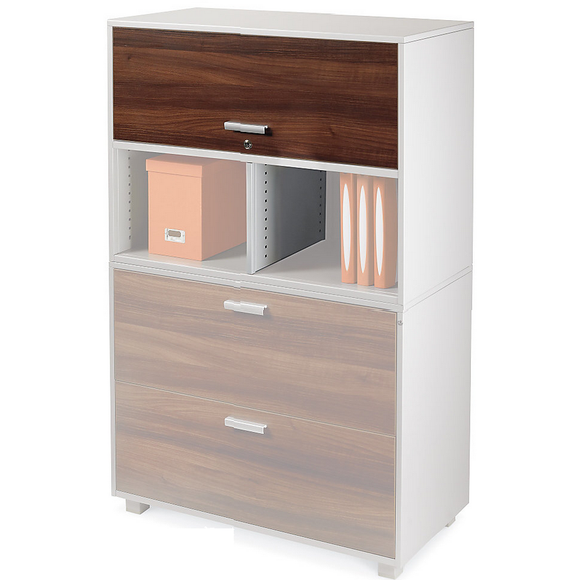 WorkPro Outlet ModOffice Cabinet Door With Divider, 12 5/8