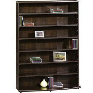 Sauder Outlet O'Sullivan 409110 Multimedia Storage Tower Cinnamon Cherry 45in x 32in x 9in
