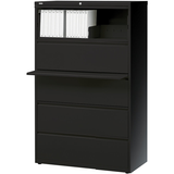 "(Scratch & Dent) Realspace PRO Outlet Steel Lateral File, 5-Drawer, 67 5/8""H x 36""W x 18 5/8""D, Black"