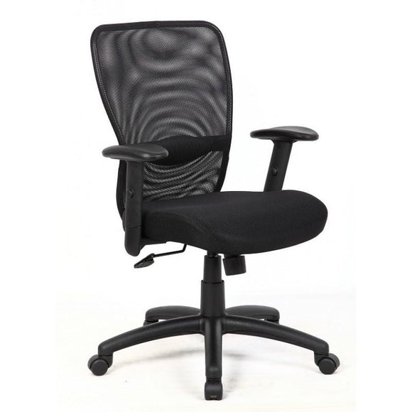 Poder Ergonomich Mesh Task Chair, Black