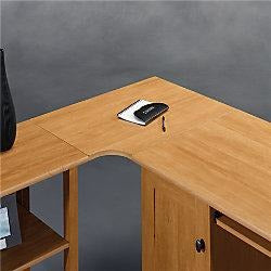 Realspace Outlet Dawson Corner Connector To Create L-Shape Desk, Canyon Maple