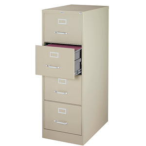 "(Scratch & Dent) Realspace PRO 26 1/2""D Vertical Legal-Size File Cabinet, 4-Drawer, Putty"