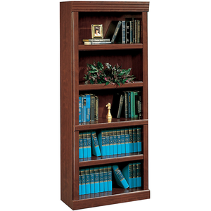 "Sauder Outlet Heritage Hill 72""H Bookcase, Open 5-Shelf, Classic Cherry"