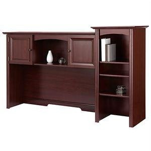 (Scratch & Dent)Realspace Broadstreet Hutch With Doors, Cherry