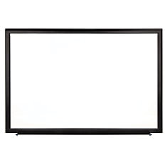 "(Scratch & Dent) FORAY Magnetic Dry-Erase Boards With Aluminum Frame, Melamine Board, 48"" x 96"", White Board, Black Frame"
