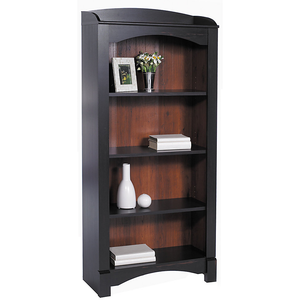 "Christopher Lowell Shore Outlet Mini Solutions 4-Shelf Bookcase, 63 1/4""H x 29 1/2""W x 12 5/8""D, Antique Black"
