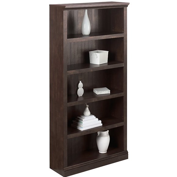 Realspace Premium Outlet Wide Bookcase, 5-Shelf, 72 1/8