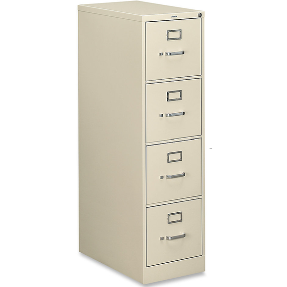 (Scratch & Dent) HON 510 Series 25''D 4-Drawer Letter-Size Vertical File Cabinet, Putty, HON514P-L