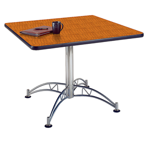 "OFM Multipurpose 42"" Square Table, Cherry"