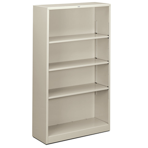 (Scratch & Dent) HON Brigade Steel Bookcase, 4 Shelves, Light Gray