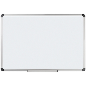 "Foray Magnetic Dry-Erase Board With Aluminum Frame, 48"" x 72"", White Board, Silver Frame"