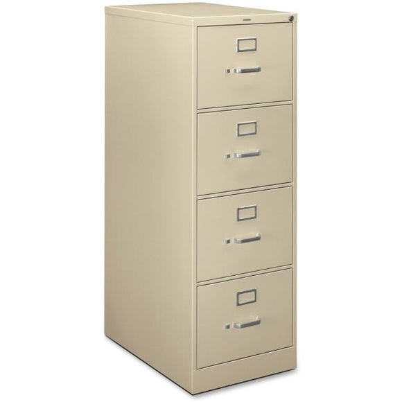 HON H320 Series 26 1/2''D Vertical 4-Drawer Legal File Cabinet, Putty