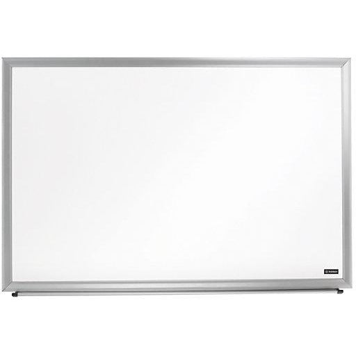 Foray Outlet Aluminum-Framed Dry-Erase Board With Marker, 48'' x 96'', White Board, Silver Frame