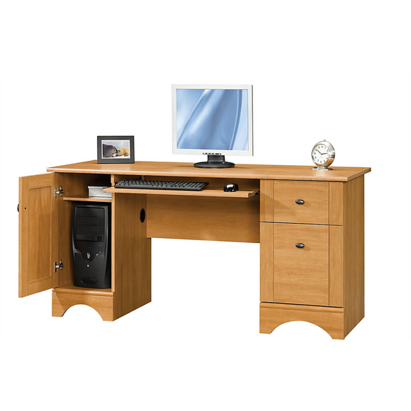 Realspace Dawson Outlet 60'' Computer Desk, 30''H x 60''W x 24''D, Canyon Maple
