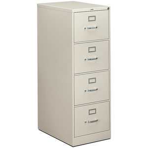 HON 310 Series 4-Drawer Legal File, Light Gray