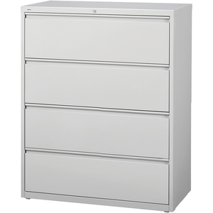 "(Scratch & Dent) Realspace PRO Steel Lateral File, 4-Drawer, 52 1/2""H x 42""W x 18 5/8""D, Light Gray"
