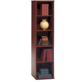 "Bush Components Open Single Bookcase, 72 7/8""H x 17 7/8""W x 15 3/8""D, Hansen Cherry/Graphite Gray"