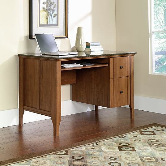 Sauder Outlet Appleton Faux Marble Top Computer Desk, Sand Pear