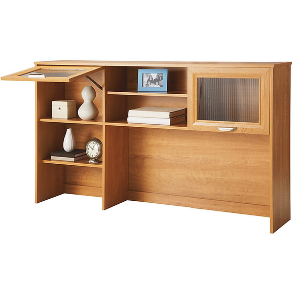 Realspace Outlet Magellan Hutch For Corner/L-Desk, Honey Maple