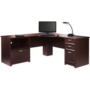 Realspace Outlet Magellan Performance Collection L-Shaped Desk, Cherry