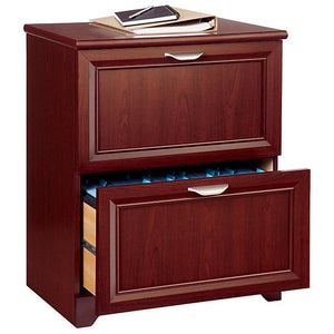"Realspace Magellan Outlet Collection 2-Drawer Lateral File Cabinet, 30""H x 23 1/2""W x 16 1/2""D, Classic Cherry"
