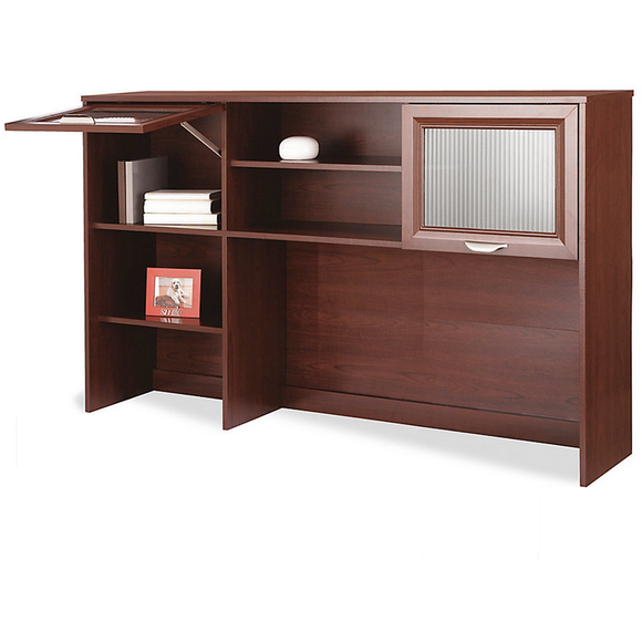 Realspace Outlet Magellan Collection Hutch, 33 5/8''H x 58''W x 11 5/8''D, Classic Cherry