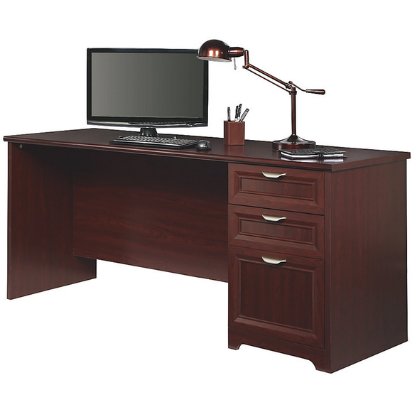 Realspace Outlet Magellan Performance Straight Desk, Cherry