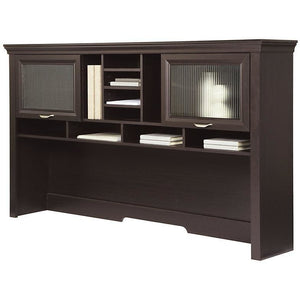 "(Scratch and Dent) Hutch, Espresso, Realspace Magellan Outlet Performance Collection, 40 1/2""H x 70 9/10""W x 12 9/10""D, SKU 956643"