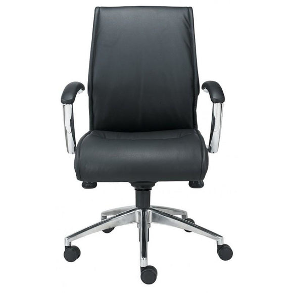 Pres Mid-Back Executive Leather Chair