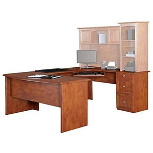 Realspace Outlet Broadstreet U-Shaped Executive Desk, Maple