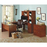 "(Scratch and Dent) Broadstreet Outlet Contoured U-Shaped Desk, 65""W x 92""D x 30""H, Maple"