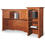"(Scratch & Dent) Realspace Broadstreet Hutch With Doors, 37 3/4""H x 64 1/2""W x 15 1/3""D, Maple"