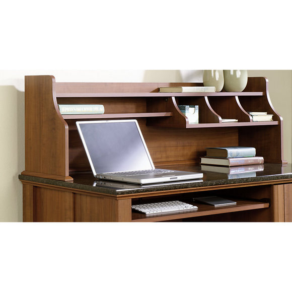 (Scratch and Dent) Sauder Outlet Appleton Hutch For Computer Desk, Sand Pear