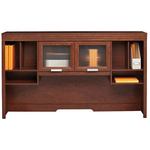 "Realspace Marbury Collection Hutch, 41 1/8""H x 70""W x 69 1/2""D, Auburn Brown"