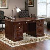 Sauder Outlet Palladia Collection Executive Desk, Select Cherry