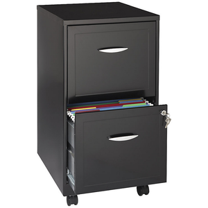 (Scratch & Dent) Realspace Outlet Two-Drawer Mobile File