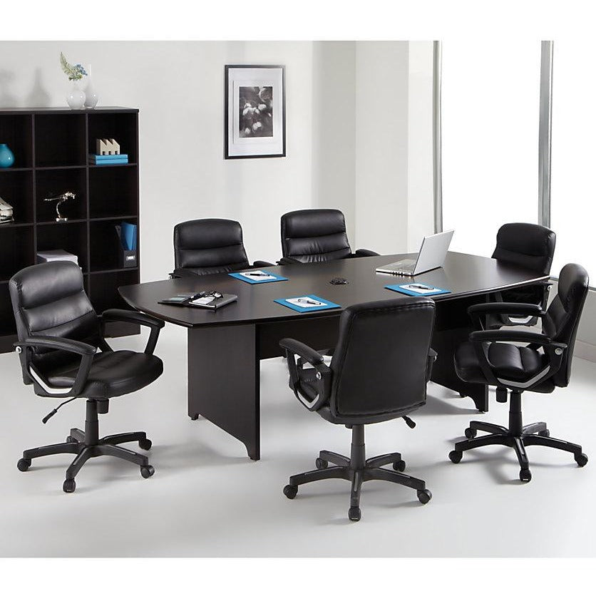 "Realspace Outlet Magellan Performance Conference Table, Boat-Shaped, 30""H x 94 1/2""W x 47 1/4""D, Espresso"