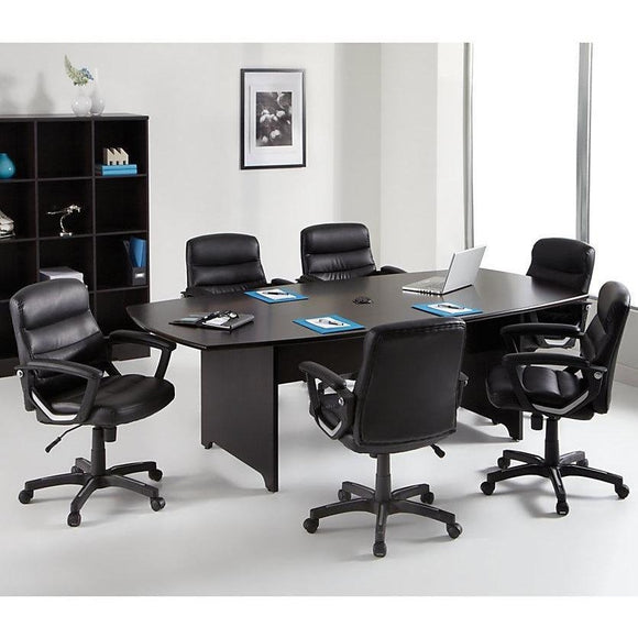 (Scratch & Dent) Realspace Outlet Magellan Performance 8-Ft. Boat-Shaped Conference Table, 29 15/16
