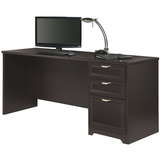 "Magellan Performance Outlet Collection Outlet Executive Desk, 30""H x 70 9/10""W x 23 1/4""D, Espresso"