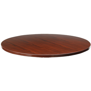 "Lorell Outlet Essentials Round Table Top, 42""D, Mahogany"