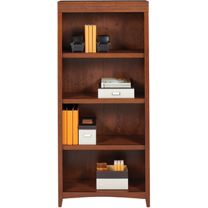 "Realspace Marbury Outlet Collection 5-Shelf Bookcase, 70 1/2""H X 31 1/2""W X 13""D, Auburn Brown"