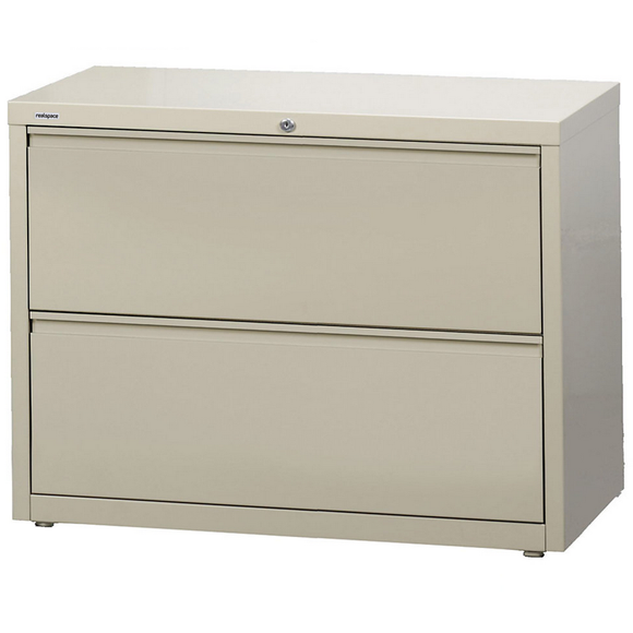 Realspace PRO Outlet Steel Lateral File, 2-Drawer, 28