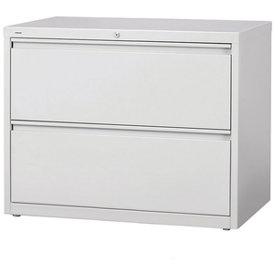 "(Scratch & Dent) Realspace PRO Steel Lateral File, 2-Drawer, 28""H x 36""W x 18 5/8""D, Light Gray"