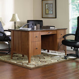 "Sauder Appleton Outlet Faux Marble Top Executive Desk, 30 23/32""H x 64 4/5""W x 29 3/5""D, Sand Pear"
