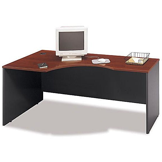 (Scratch & Dent) Bush Components Left Corner Desk Shell, 29 7/8''H x 71''W x 35 1/2''D, sku# 361801, Hansen Cherry/Graphite Gray